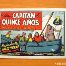Tebeos: UN CAPITAN DE QUINCE AÑOS, SEGUNDA PARTE - AVENTURAS CELEBRES - EDICIONES CLIPER 1942. Lote 64524975