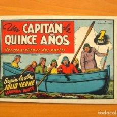 Tebeos: UN CAPITÁN DE QUINCE AÑOS, SEGUNDA PARTE - AVENTURAS CELEBRES - EDICIONES CLIPER 1942. Lote 64525695