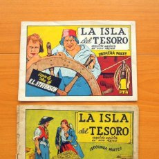 Tebeos: LA ISLA DEL TESORO, PRIMERA Y SEGUNDA PARTE, COMPLETA - AVENTURAS CELEBRES - EDICIONES CLIPER 1942. Lote 64527291