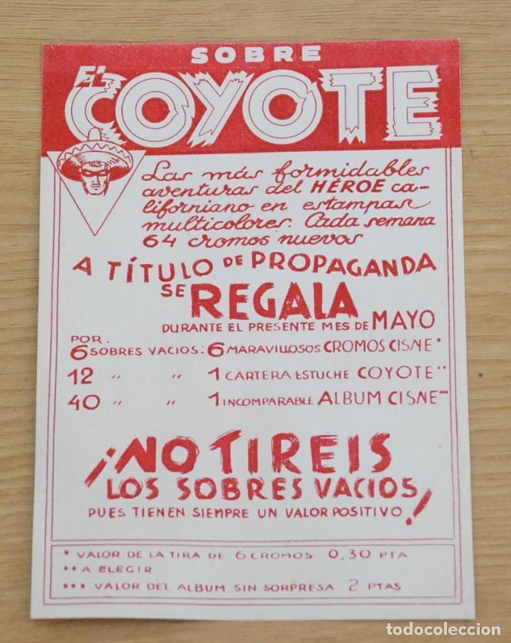 FOLLETO PUBLIDAD SOBRES EL COYOTE - CLIPER 1946 (Tebeos y Comics - Cliper - El Coyote)