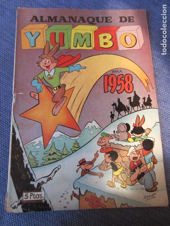 ALMANAQUE YUMBO 1958 -ED.CLIPER (Tebeos y Comics - Cliper - Yumbo)