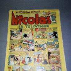 Tebeos: 1018- COMIC- HISTORIETAS COMICAS -NICOLAS ( LA TELEVISION ) 1,50 PTAS Nº 6 ( AÑOS 50). Lote 74006035