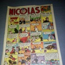 Tebeos: COMIC NICOLAS -- 1.30 PTAS -- Nº 96 -- AÑOS 50 ( BARCELONA). Lote 89549202