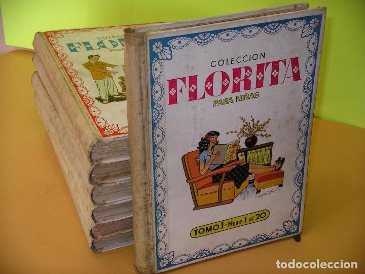 FLORITA, LOTE NºS 1 AL 140 EN TOMOS, ED. CLIPER, AÑOS 1950. TOMO, OFERTA!!! (Tebeos y Comics - Cliper - Florita)