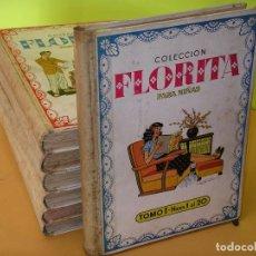 Tebeos: FLORITA, LOTE NºS 1 AL 140 EN TOMOS, ED. CLIPER, AÑOS 1950. TOMO, OFERTA!!!, ERCOM. Lote 77817985