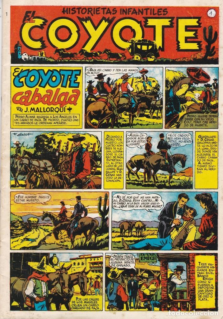 EL COYOTE. HISTORIETAS INFANTILES. REEDICIÓN. COLECCIÓN 48 NÚMEROS. LEER Y VER FOTOS (Tebeos y Comics - Cliper - El Coyote)