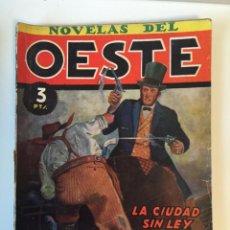 Tebeos: NOVELAS DEL OESTE CLIPER Nº 3 LA CIUDAD SIN LEY. CARTER MULFORD. Lote 81672988