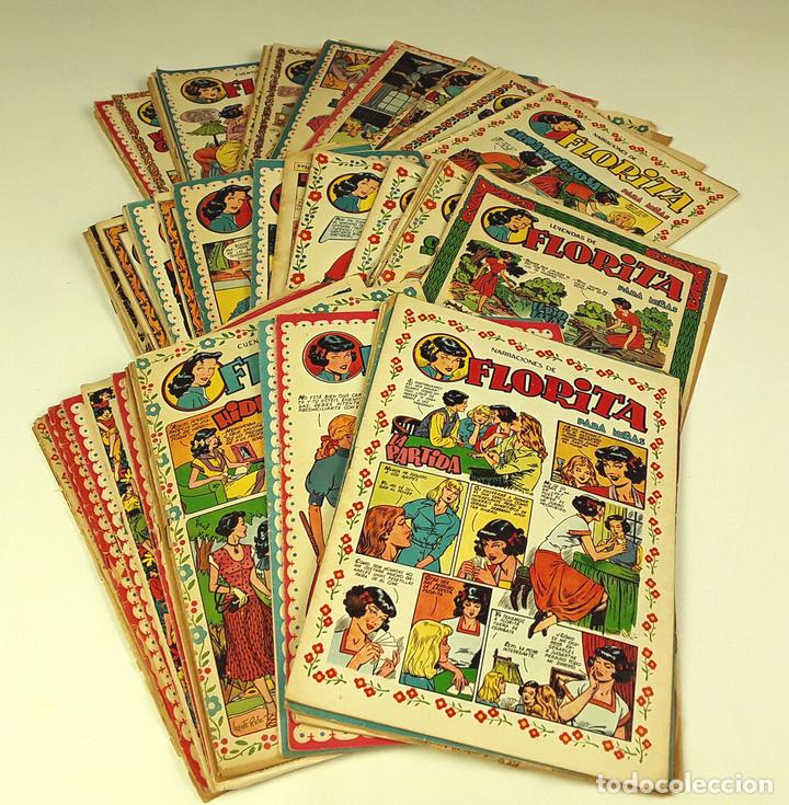 REVISTA PARA NIÑAS. FLORITA. 58 EJEMPLARES(VER DESCRIP). VV. AA. EDIC. CLIPER. 1949. (Tebeos y Comics - Cliper - Florita)