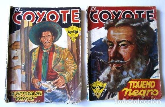 LOTE 2 Nº EL COYOTE POR JOSÉ MALLORQUÍ DE EDICIONES CLIPER EN BARCELONA 1946 (Tebeos y Comics - Cliper - El Coyote)