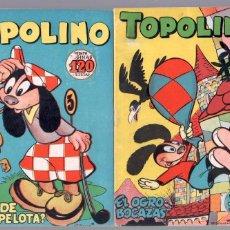 Tebeos: TOPOLINO ORIGINAL EDITORIAL CLIPER 1950 NºS 8 Y 9 , MAGNÍFICO ESTADO, LOS DE LAS IMÁGENES. Lote 88831364