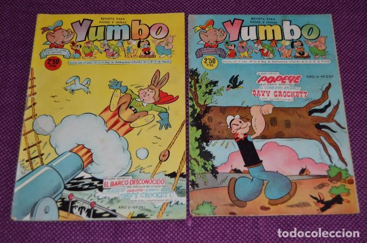 LOTE DE 2 NÚMEROS - YUMBO - EDICIONES CLIPER - ANTIGUO Y ORIGINAL - HAZME UNA OFERTA (Tebeos y Comics - Cliper - Yumbo)