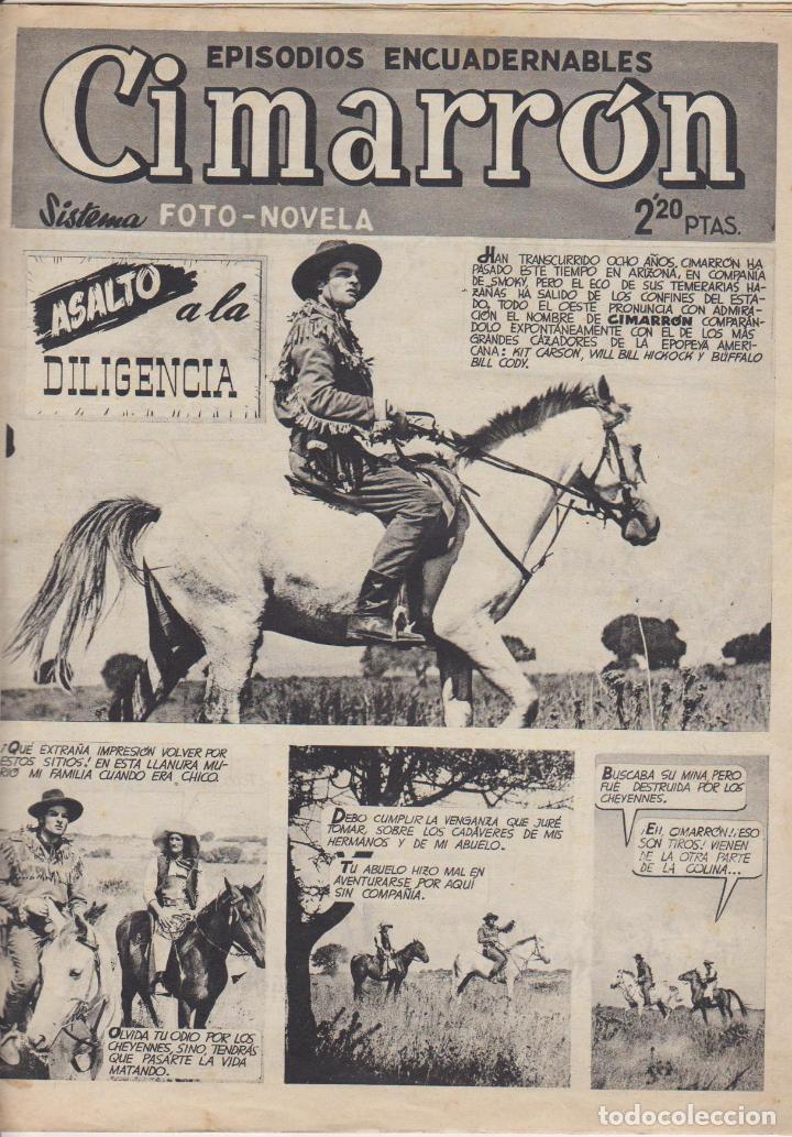 CIMARRON. ASALTO A LA DILIGENCIA. CLIPER 1952. (Tebeos y Comics - Cliper - Otros)
