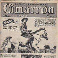Tebeos: CIMARRON. ASALTO A LA DILIGENCIA. CLIPER 1952.. Lote 91440655
