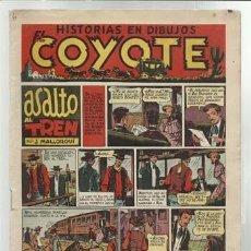 Tebeos: EL COYOTE Nº 6: ASALTO AL TREN, 1947, ORIGINAL, MUY BUEN ESTADO. Lote 92045950
