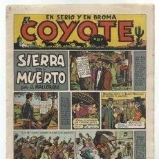 Tebeos: EL COYOTE 8: SIERRA DEL MUERTO, 1947, ORIGINAL, MUY BUEN ESTADO. Lote 92046455
