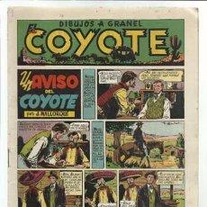 Tebeos: EL COYOTE Nº 9: UN AVISO DEL COYOTE, 1947, ORIGINAL EN MUY BUEN ESTADO. Lote 92046870