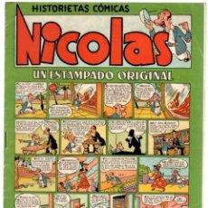 Tebeos - NICOLAS. HISTORIETAS COMICAS. UN ESTAMPADO ORIGINAL. Nº 7. ORIGINAL. 1,50 PTAS. - 92711550