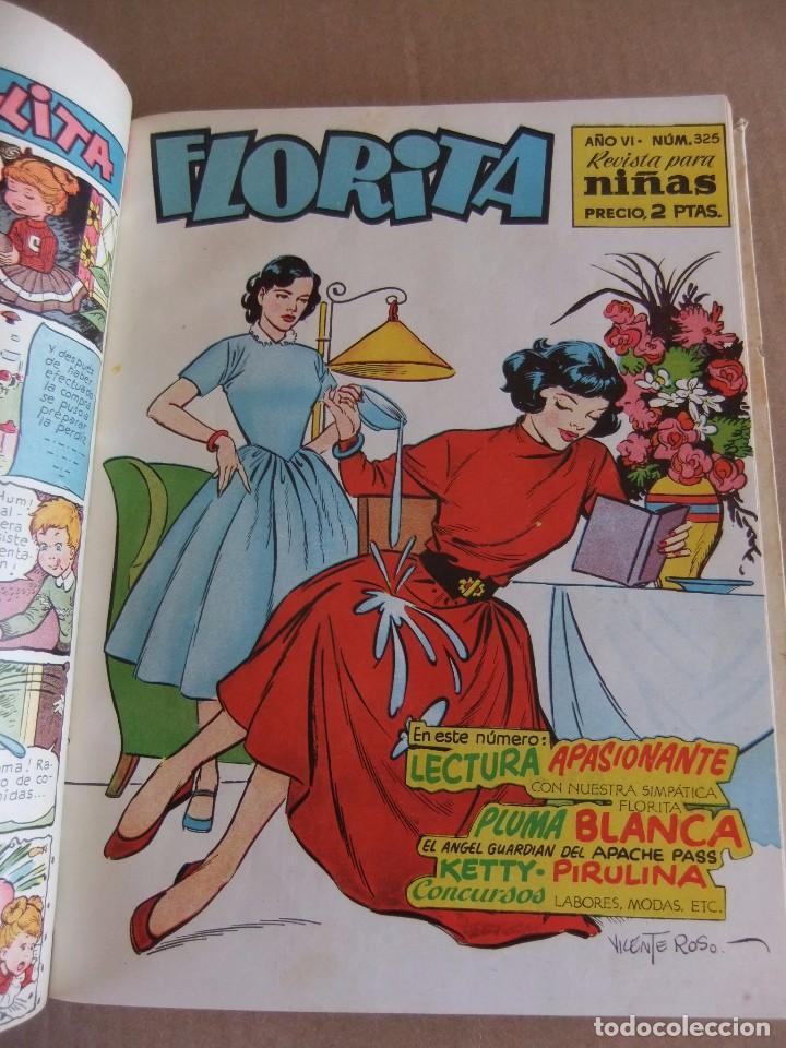 Tebeos: FLORITA TOMO XVII EDICIONES CLIPER NUMS 321 AL 340 - Foto 4 - 94004510