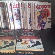 Tebeos: EL COYOTE. DOS NOVELAS EN UNA. 19 LIBROS DE 20 FALTA LA Nº 15. EDICIONES FORUM 1983. . Lote 97216859