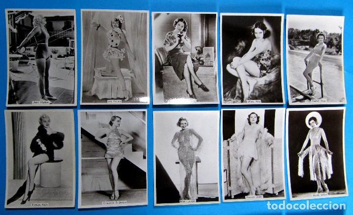 Tebeos: LOTE DE 20 CROMOS DE ARTISTAS DE CINE. BEAUTIES OF TO DAY. GODFREY PHILLIPS LTD, 1930S - Foto 2 - 97314667