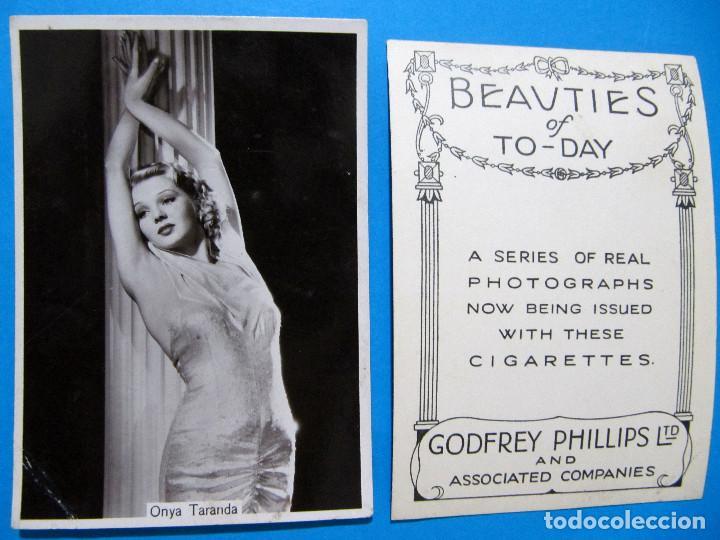 Tebeos: LOTE DE 20 CROMOS DE ARTISTAS DE CINE. BEAUTIES OF TO DAY. GODFREY PHILLIPS LTD, 1930S - Foto 5 - 97314667