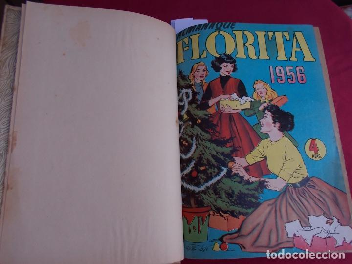 Tebeos: FLORITA. TOMO XVII. Nº 17. DESDE Nº 321 AL 340 MAS ALMANAQUE FLORITA 1956. CLIPER - Foto 3 - 97503475