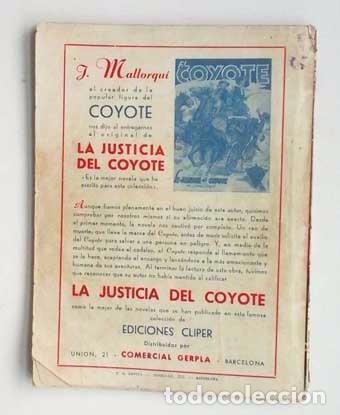 Tebeos: EL COYOTE Nº 2, EXTRA. ORIGINAL DE CLIPER - Foto 2 - 97726531