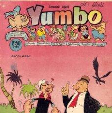 Tebeos: YUMBO Nº224. EL CONEJITO ATÓMICO, POPEYE, ENANÍN, BILLY Y BUMBLE, ARTISTAS DE YUMBO... . Lote 97729791