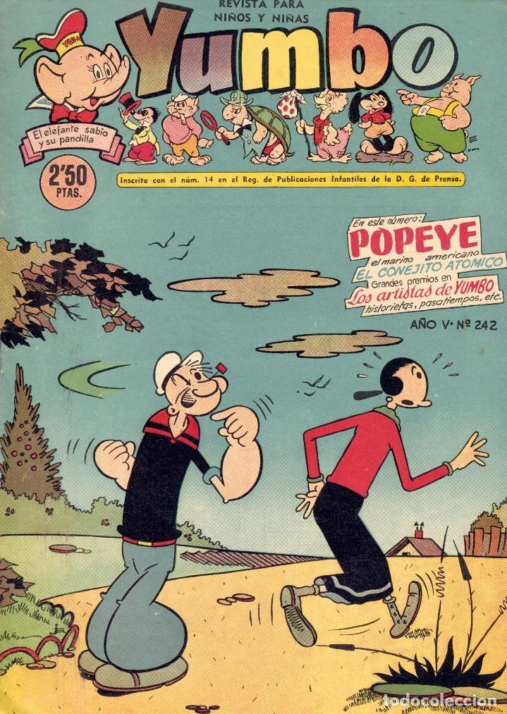 YUMBO Nº242. EL CONEJITO ATÓMICO, POPEYE, ENANÍN, BILLY Y BUMBLE, ARTISTAS DE YUMBO... (Tebeos y Comics - Cliper - Yumbo)