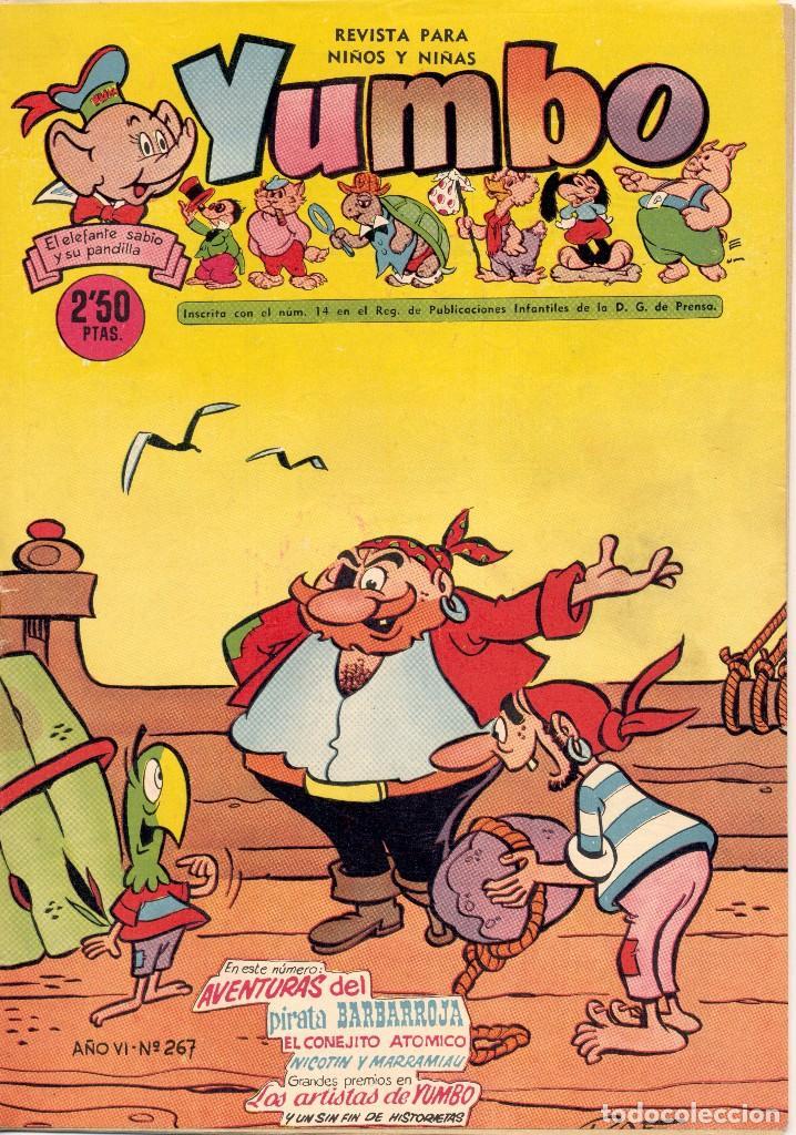 YUMBO Nº267. CONEJITO ATÓMICO, NICOTÍN, PIRATA BARBARROJA... DIBUJOS DE RAF, AYNÉ, HARRY SMITH... (Tebeos y Comics - Cliper - Yumbo)