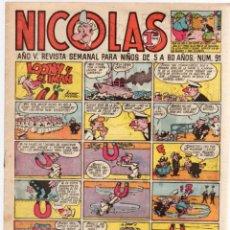 Tebeos: REVISTA NICOLAS. Nº 91. ORIGINAL. 1,20 PTAS.. Lote 98841963