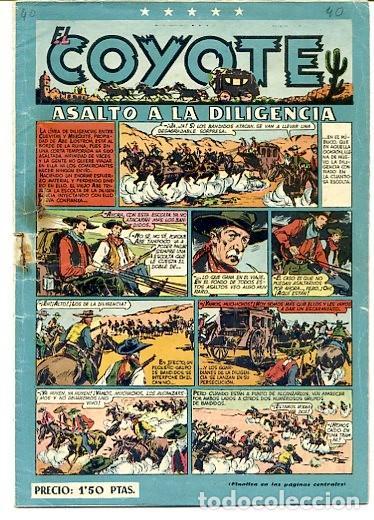 COMIC ORIGINAL EL COYOTE Nº 40 EDITORIAL CLIPER (Tebeos y Comics - Cliper - El Coyote)