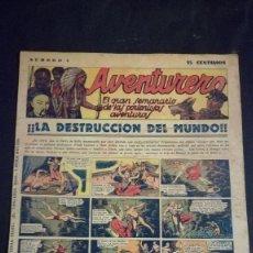 Tebeos: COMIC TEBEO SEMANARIO AVENTURERO AÑO 1935 NÚMERO 4. Lote 101717003