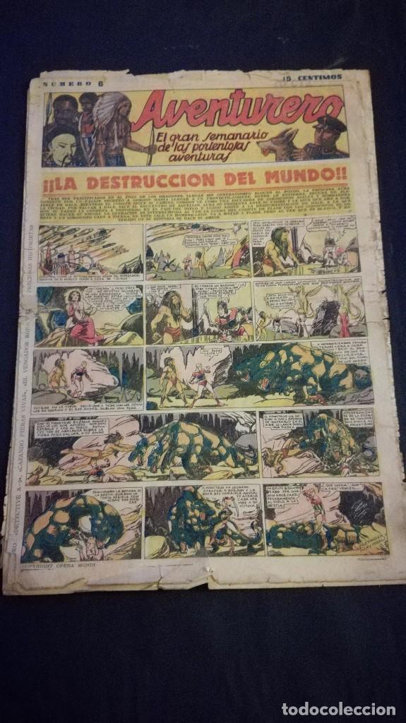 COMIC TEBEO SEMANARIO AVENTURERO AÑO 1935 NÚMERO 6 (Tebeos y Comics - Cliper - Aventurero)
