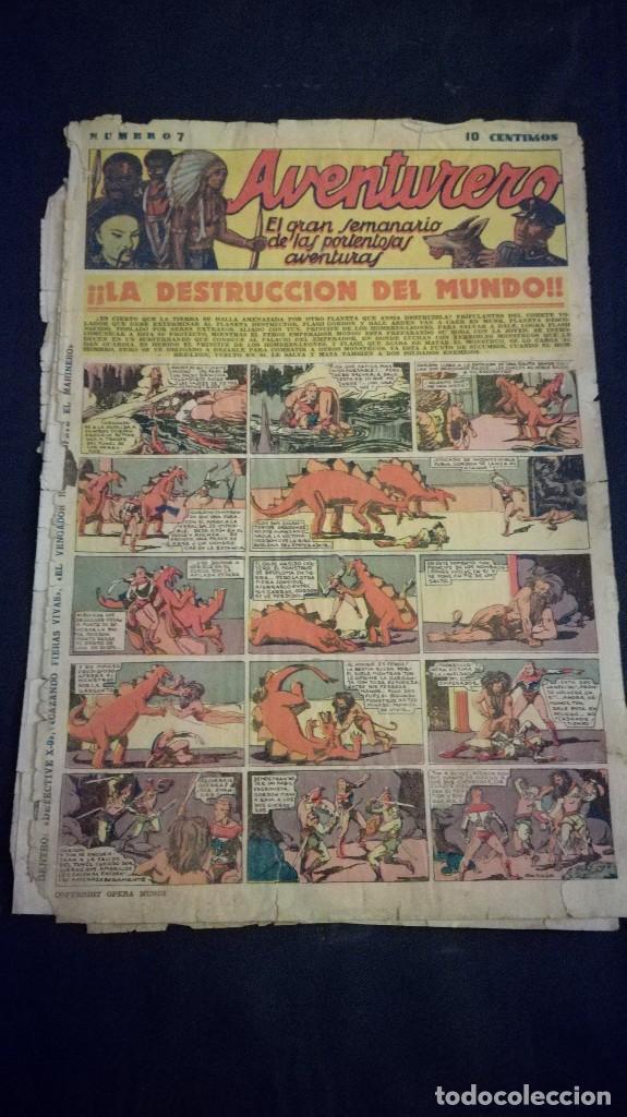 COMIC TEBEO SEMANARIO AVENTURERO AÑO 1935 NÚMERO 7 (Tebeos y Comics - Cliper - Aventurero)