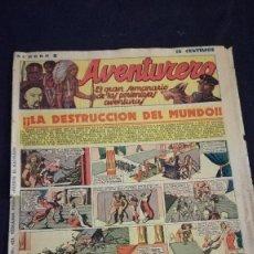 Tebeos: COMIC TEBEO SEMANARIO AVENTURERO AÑO 1935 NÚMERO 8. Lote 101717223