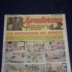 Tebeos: COMIC TEBEO SEMANARIO AVENTURERO AÑO 1935 NÚMERO 8. Lote 101717295