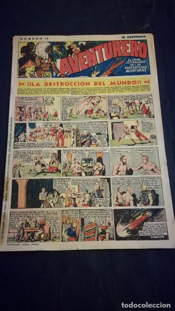 COMIC TEBEO SEMANARIO AVENTURERO AÑO 1935 NÚMERO 14 (Tebeos y Comics - Cliper - Aventurero)