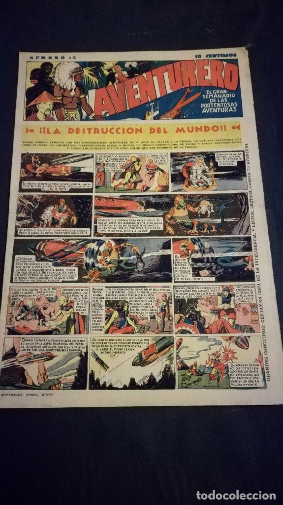 COMIC TEBEO SEMANARIO AVENTURERO AÑO 1935 NÚMERO 15 (Tebeos y Comics - Cliper - Aventurero)