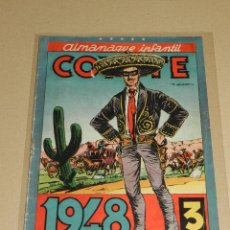 Tebeos: (M10) ALMANAQUE EL COYOTE 1948 , EDC CLIPER , LOMO CON SEÑALES DE USO. Lote 102150759