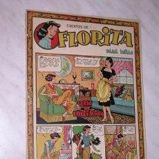 Tebeos: FLORITA Nº 56. VICENTE ROSO, SABATÉS, RIPOLL G., PILI BLASCO, MESTRES, MIRIOL, RIBERA. CLIPER 1950 +. Lote 102507683