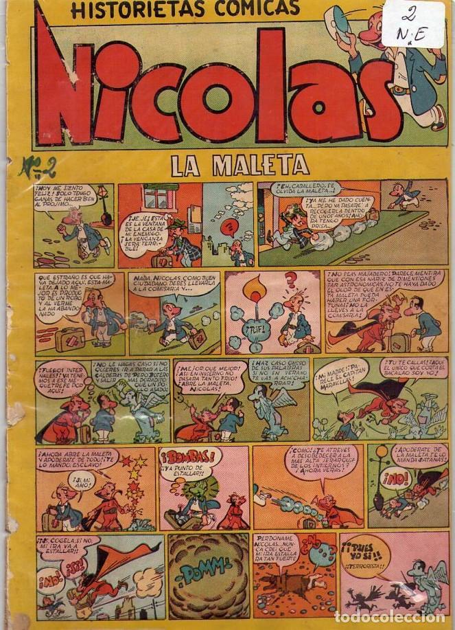 LOTE DE 9 EJEMPLARES HISTORIETAS COMICAS NICOLAS *** NÚMEROS 2-3-4-5-6-7-8-9-10 (Tebeos y Comics - Cliper - Nicolas)