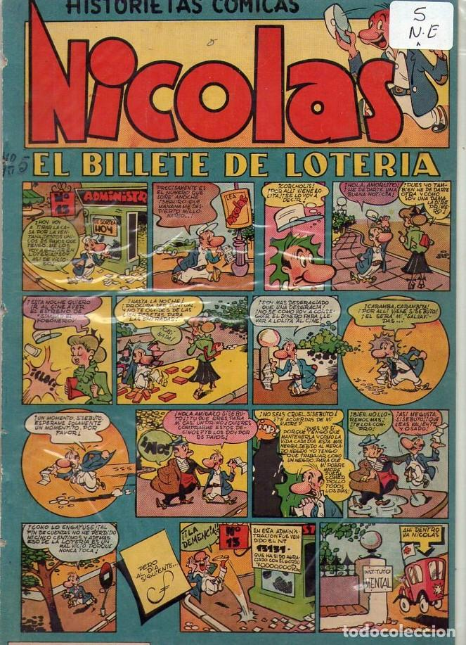 Tebeos: LOTE DE 9 EJEMPLARES HISTORIETAS COMICAS NICOLAS *** NÚMEROS 2-3-4-5-6-7-8-9-10 - Foto 4 - 104095883