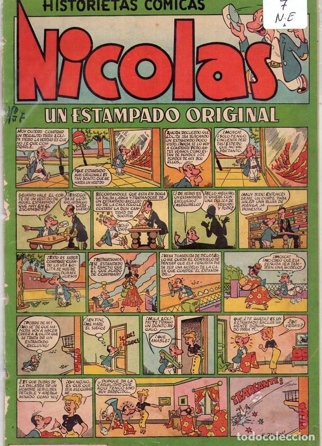 Tebeos: LOTE DE 9 EJEMPLARES HISTORIETAS COMICAS NICOLAS *** NÚMEROS 2-3-4-5-6-7-8-9-10 - Foto 5 - 104095883