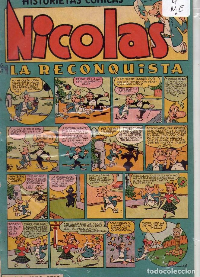 Tebeos: LOTE DE 9 EJEMPLARES HISTORIETAS COMICAS NICOLAS *** NÚMEROS 2-3-4-5-6-7-8-9-10 - Foto 8 - 104095883