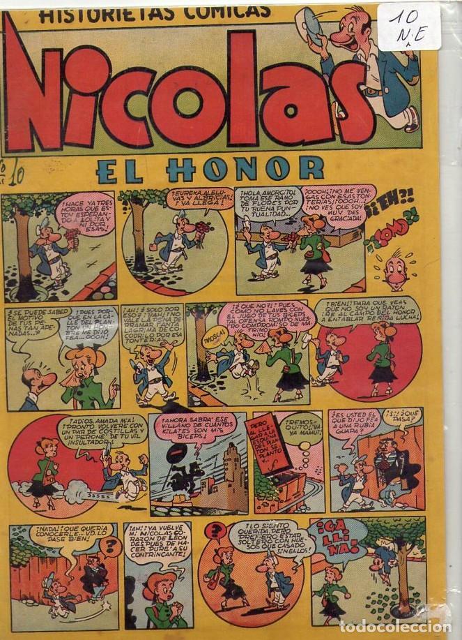 Tebeos: LOTE DE 9 EJEMPLARES HISTORIETAS COMICAS NICOLAS *** NÚMEROS 2-3-4-5-6-7-8-9-10 - Foto 9 - 104095883