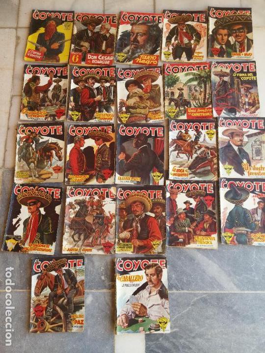 LOTE DE 22 COMICS EL COYOTE PRIMERAS EDICIONES AÑO 1947-46, POR EDICIONES CLIPER J. MALLORQUÍ (Tebeos y Comics - Cliper - El Coyote)