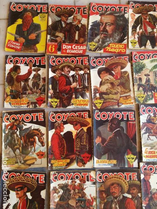 Tebeos: Lote de 22 Comics El Coyote primeras ediciones año 1947-46, por ediciones Cliper J. Mallorquí - Foto 2 - 106770763