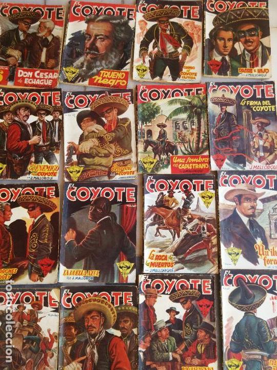 Tebeos: Lote de 22 Comics El Coyote primeras ediciones año 1947-46, por ediciones Cliper J. Mallorquí - Foto 3 - 106770763
