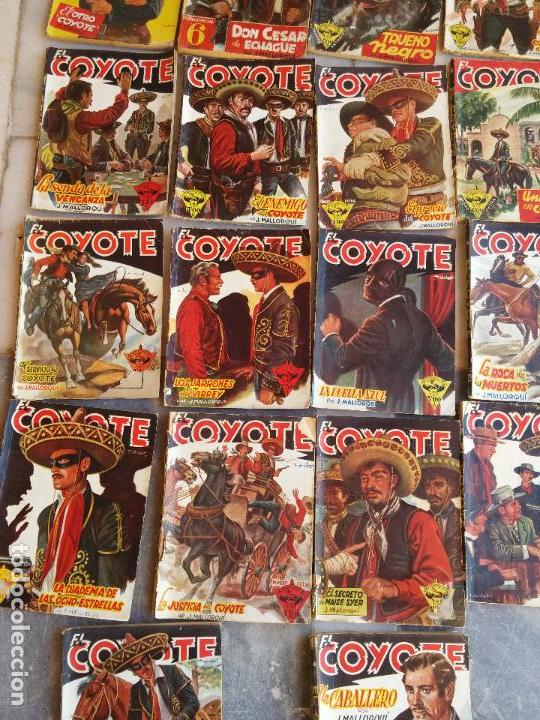 Tebeos: Lote de 22 Comics El Coyote primeras ediciones año 1947-46, por ediciones Cliper J. Mallorquí - Foto 4 - 106770763